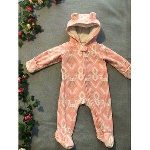 Pink Fleece Baby Bunting
